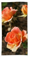 Brass Band Roses In Autumn Bath Towel