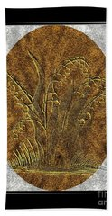 Brass Etching - Oval - Lily Of The Valley Bath Towel