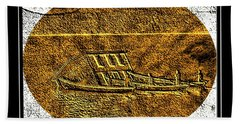 Brass Etching - Oval - Moving House By Water Bath Towel