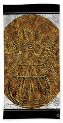 Brass Etching - Oval - Sunflowers Bath Towel