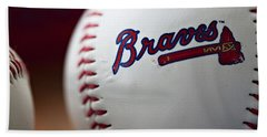 Braves Baseball Bath Towel