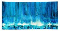 Breakers Off Point Reyes Original Painting Hand Towel