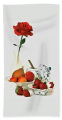 Breakfast For Lovers Hand Towel by Elf Evans