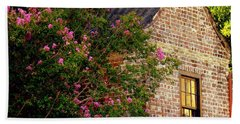 Bath Towel featuring the photograph Brick And Myrtle by Rodney Lee Williams