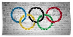 Brick Wall Olympic Movement Bath Towel