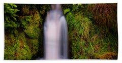 Bridal Dress. Waterfall At Benmore Botanical Garden. Nature Of Scotland Bath Towel by Jenny Rainbow