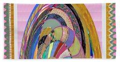 Bride In Layers Of Veils Accidental Discovery From Graphic Abstracts Made From Crystal Healing Stone Hand Towel