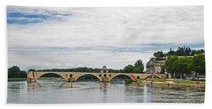 Bridge At Avignon Hand Towel