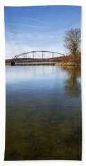 Hand Towel featuring the photograph Bridge At Upper Lisle by Christina Rollo
