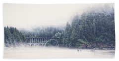 Bridge In The Mist  Bath Towel