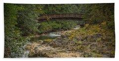 Bridge In The Woods Bath Towel