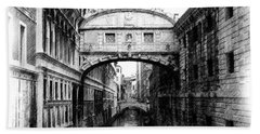 Bridge Of Sighs Pencil Hand Towel