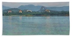 Bridge Of The Americas From Casco Viejo - Panama Bath Towel