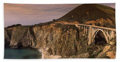 Bridge On A Hill, Bixby Bridge, Big Hand Towel