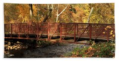 Bridge On Big Chico Creek Hand Towel
