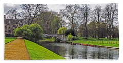 Bridge Over River Cam Bath Towel