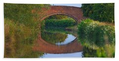 Bath Towel featuring the photograph Bridge Over The Canal by Jeremy Hayden