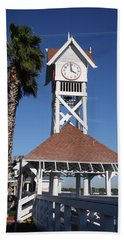 Bridge Street Pier And Clocktower  Hand Towel by Christiane Schulze Art And Photography