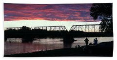 Bridge Sunset In June Bath Towel