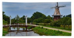 Bridge To Holland Windmill Hand Towel