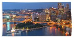 Bridge To The Pittsburgh Skyline Bath Towel