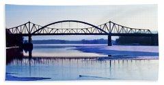Bridges Over The Mississippi Bath Towel