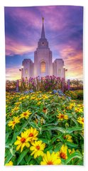 Brigham City Temple Hand Towel by Dustin  LeFevre