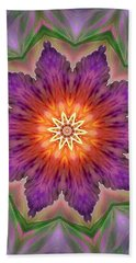 Hand Towel featuring the digital art Bright Flower by Lilia D