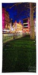 Bright Lights Of London Bath Towel
