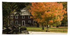 Hand Towel featuring the photograph Bright Orange Autumn by Jeff Folger