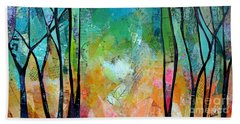 Bath Towel featuring the painting Bright Skies For Dark Days II by Shadia Derbyshire