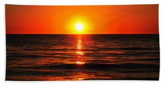 Bright Skies - Sunset Art By Sharon Cummings Hand Towel