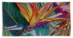 Brillant Bird Of Paradise Hand Towel