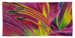 Bath Towel featuring the painting Brilliance Within by Marilyn  McNish