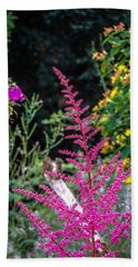 Brilliant Astilbe In Markree Castle Gardens Hand Towel