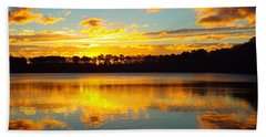 Brilliant Sunrise Hand Towel by Dianne Cowen