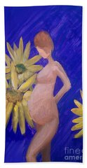 Hand Towel featuring the painting Bringer Of Life by Marisela Mungia