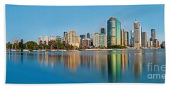 Brisbane City Reflections Bath Towel