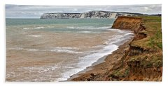 Bath Towel featuring the photograph Brook Bay And Chalk Cliffs by Jeremy Hayden