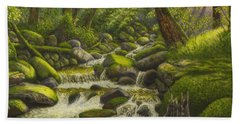 Brook In The Forest Bath Towel