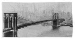 Brooklyn Bridge 2 Hand Towel