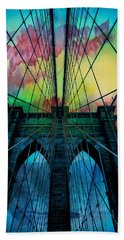 Psychedelic Skies Hand Towel by Az Jackson