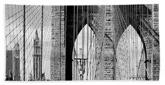 Brooklyn Bridge New York City Usa Bath Towel