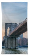 Brooklyn Bridge Sunset Hand Towel