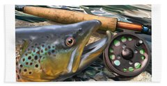 Brown Trout Sunset Hand Towel
