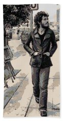 Bruce Springsteen Hand Towel by Paulette B Wright