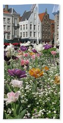 Hand Towel featuring the photograph Brugge In Spring by Ausra Huntington nee Paulauskaite
