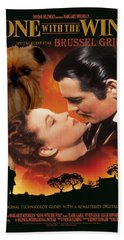 Brussels Griffon Art - Gone With The Wind Movie Poster Hand Towel