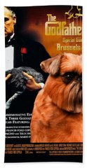 Brussels Griffon Art Canvas Print - The Godfather Movie Poster Hand Towel