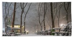 Bryant Park - Winter Snow Wonderland - Hand Towel